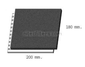 Anti-odour filter for fryer NITEC, code F06
