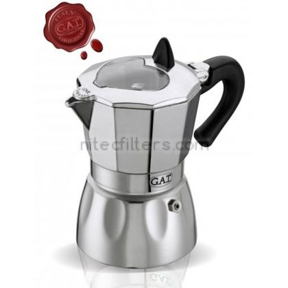 Aluminium coffee maker VALENTINA for 6 cups, code K928
