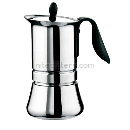 Aluminium coffee maker LADY INDUCTION for 4 cups, code K910