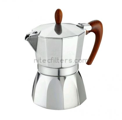 Aluminium coffee maker LADY ORO for 9 cups, code K972