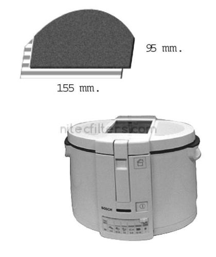 Anti-odour filter for fryer NITEC, code F18