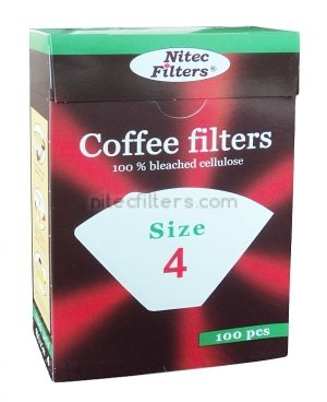 Paper coffee filter size 4 x 100, code K04