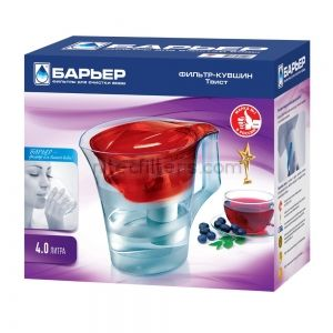 Water filtering pitcher TWIST  red colour , code V363