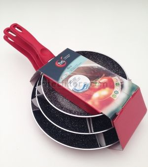 Set frypan DEA IVORY red, code D417
