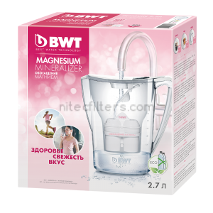 Water filtering pitcher BWT PЕNGUIN, aubergine colour - code V702