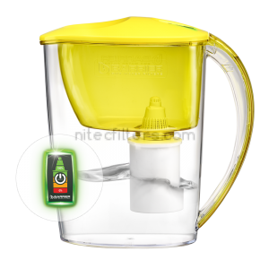 Water filtering pitcher FIT OPTILIGHT  yellow , code V324