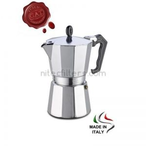 Aluminium coffee maker VALENTINA for 9 cups, code K978