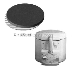 Anti-odour filter for fryer NITEC, code F10