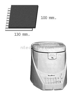 Anti-odour filter for fryer NITEC, code F11